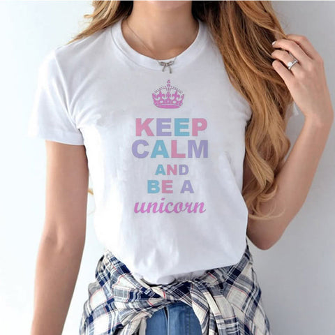 Women's Keep Calm and Be a Unicorn T-Shirt