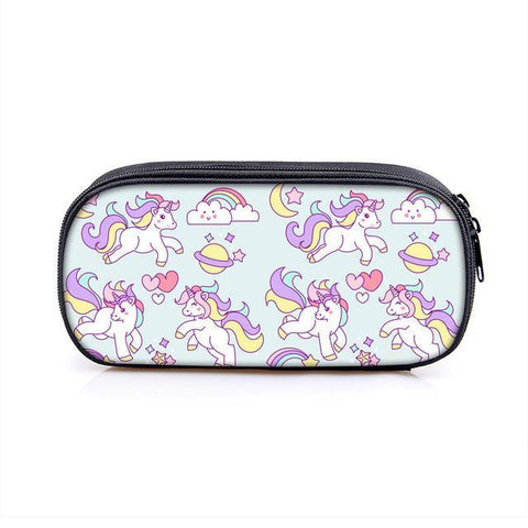 Unicorn Print Pencil Bag Case