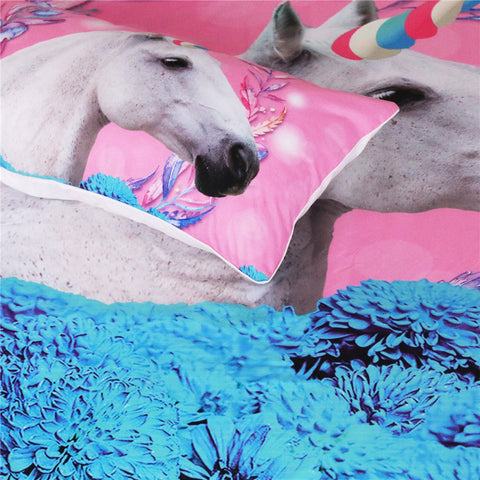 Magical Unicorn Bed Set Closeup 1