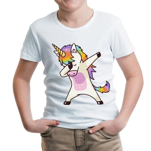 Standard Kids Dabbing Unicorn T-Shirt