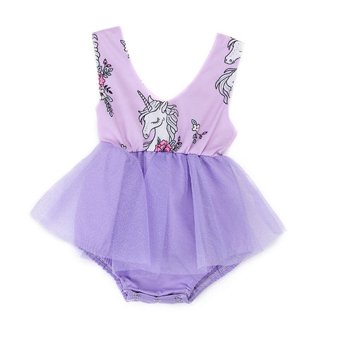 Purple Baby Unicorn Tulle Dress