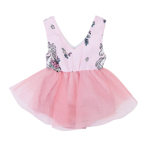 Pink Unicorn Summer Dress