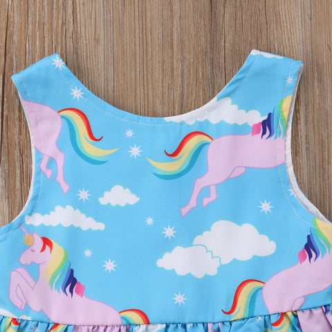 Girls Unicorn Sun Dress Top