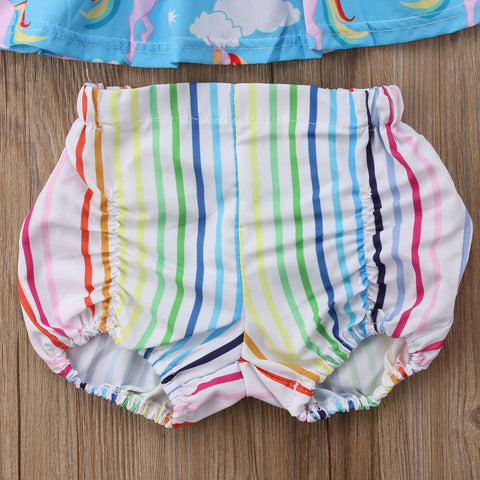 Girls Rainbow Shorts