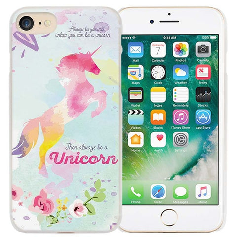 Leaping Rainbow Unicorn iPhone Cover