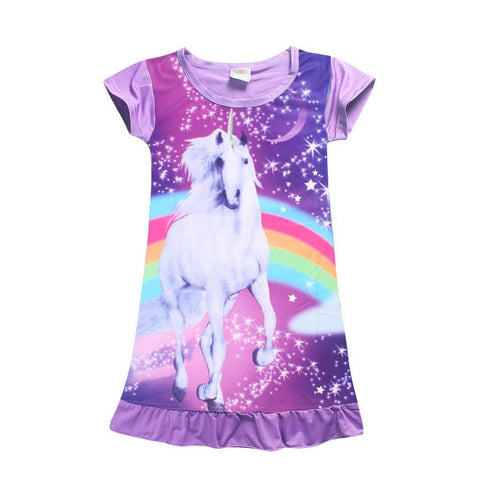 Purple Unicorn Summer Dress