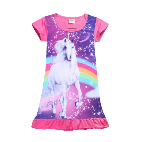 Pink Rainbow Unicorn Summer Dress