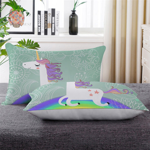 Believe In Miracles Unicorn Throw Pillow