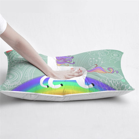 Believe In Miracles Unicorn Pillow
