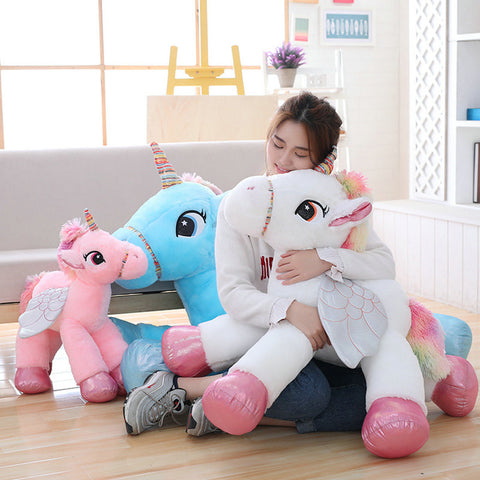 Cute Winged Plush Stuffed Unicorn Toy