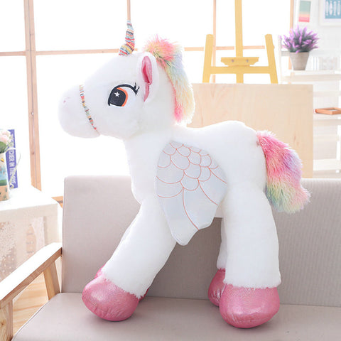 White Stuffed Unicorn Plush Toy