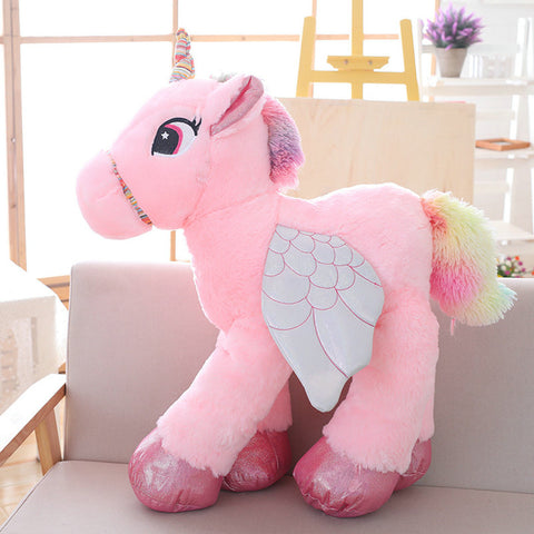 Pink Stuffed Unicorn Plush Toy