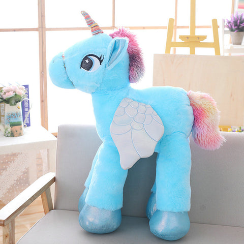 Blue Stuffed Unicorn Plush Toy