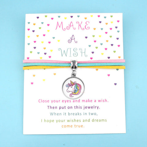 Make A Wish Rainbow Unicorn Charm Bracelet