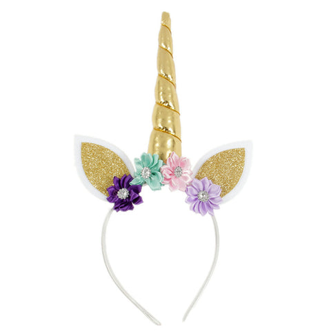Kids Unicorn Horn Headband w/ Ears
