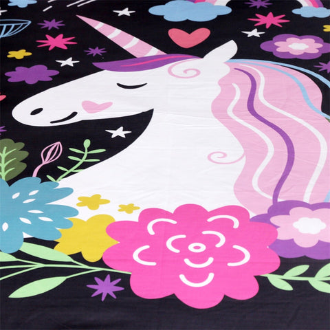 Unicorn Bedding Set Closeup 2