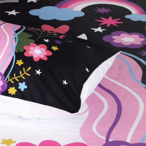 Unicorn Bed Set Closeup 1