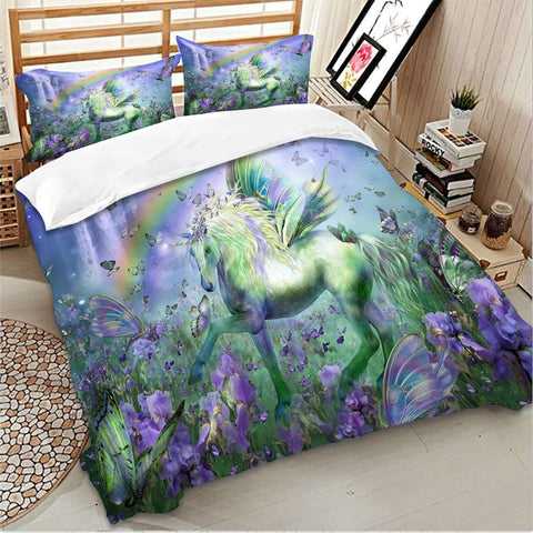 Purple Unicorn Bedding Set