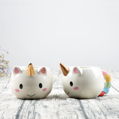 Copper or Gold Unicorn Coffee Cup