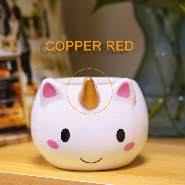 Copper Unicorn Coffee Cup