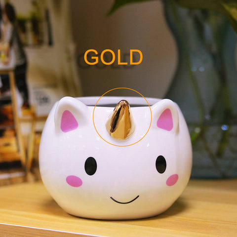 Gold Unicorn Coffee Mug