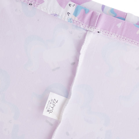 Inside Pink Unicorn Pattern Leggings