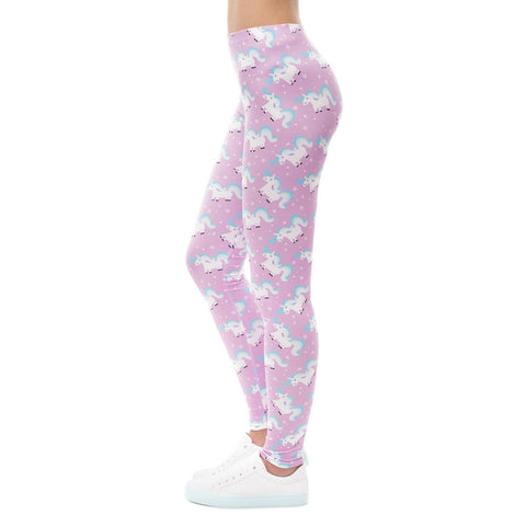 Pink Cartoon Unicorn Tights