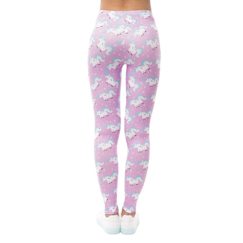 Back of Cartoon Unicorn Leggings