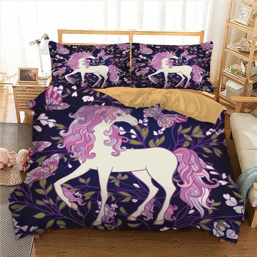 Butterfly Unicorn Bed Set