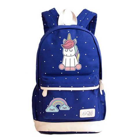 Canvas Baby Unicorn Backpack