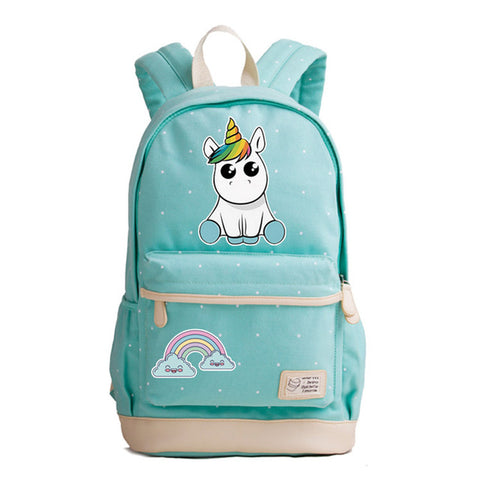 Baby Unicorn Canvas Backpack