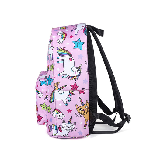 Side of Cartoon Unicorn Backpack