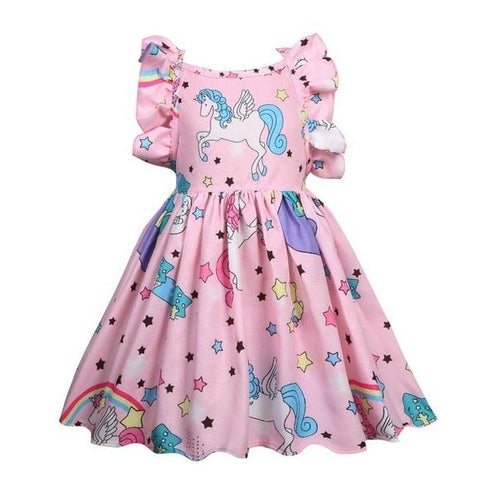 ef9eab7f0d78 Girls Sleeveless Unicorn Summer Party Dress