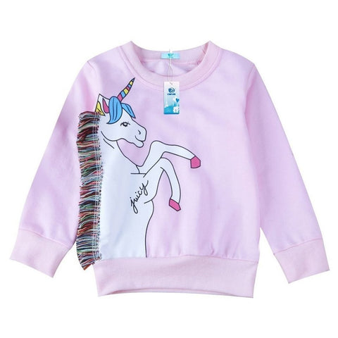 Girls Pink Juicy Unicorn Sweatshirt