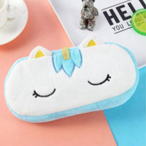 Cute Plush Baby Unicorn Pencil Bag Case