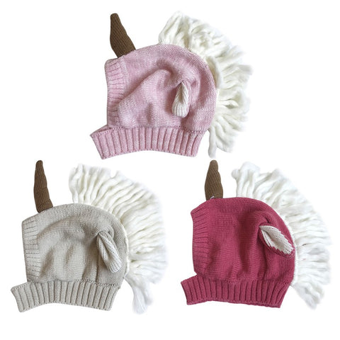Wrap-Around Baby / Toddler Unicorn Beanie Hat