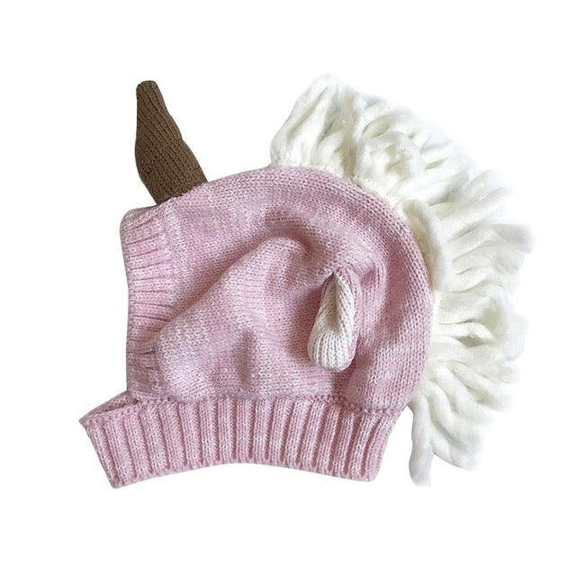 Baby   Toddler Knitted Wrap-Around Unicorn Winter Hat - 100 Unicorns e45362c34ab