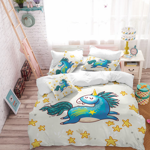 Leaping Unicorn Bedding Set