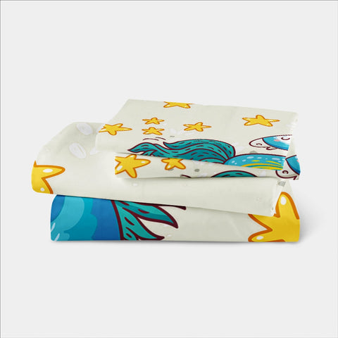 Cartoon Unicorn Bedding Set Contents