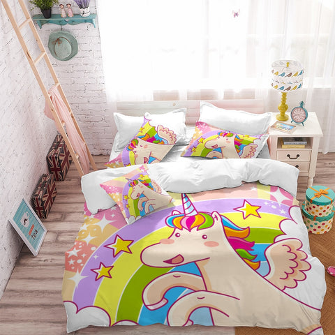 Colorful Unicorn Bedding Set
