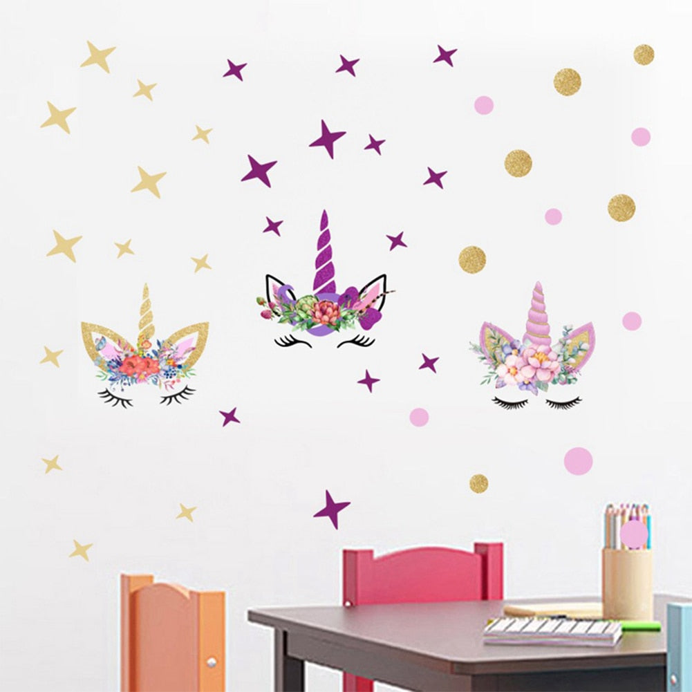 Unicorn Wall Decal Stickers