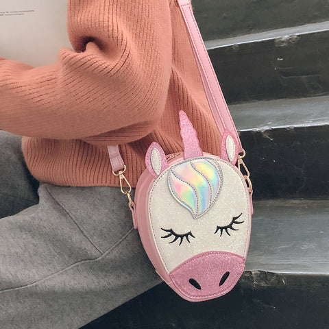 Glittery Mini Unicorn Crossbody Bag Purse