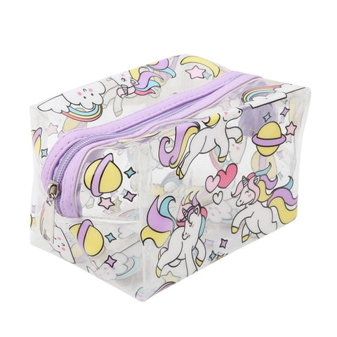 Transparent Unicorn Cosmetic Travel Bag