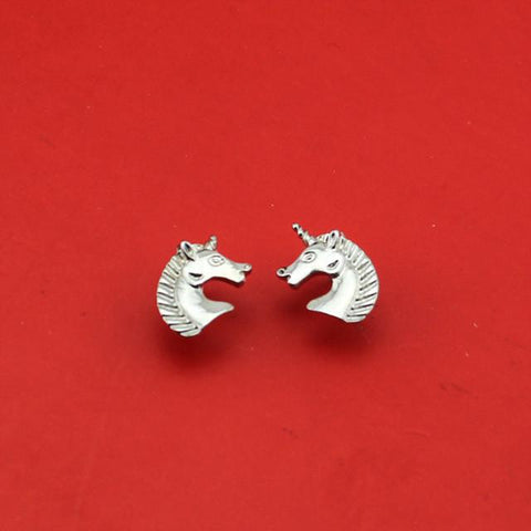 Silver Plated Unicorn Stud Earrings-100 Unicorns