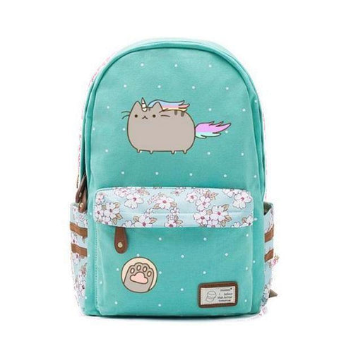 Teal Cat Unicorn Backpack