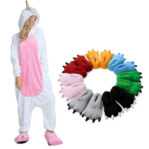Unicorn Animal Paw Costume Slipper Shoes