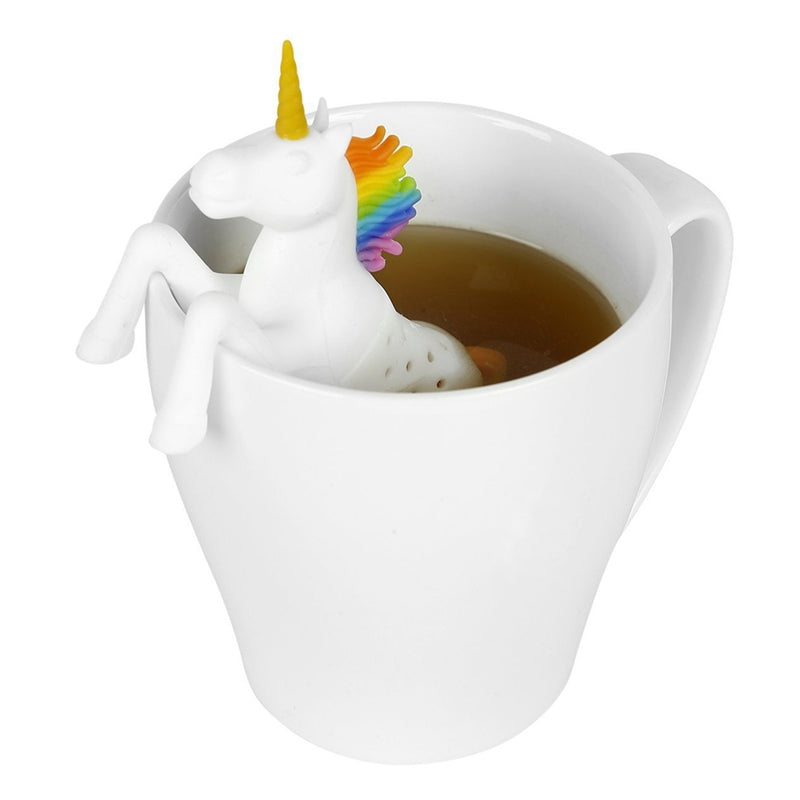 Silicone Rainbow Unicorn Tea Strainer / Infuser