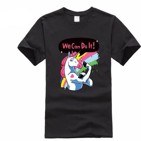 We Can Do It Unicorn Men's T-Shirt-100 Unicorns