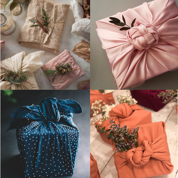 Parcel London Christmas blog Linen and silk wrapped presents and gifts