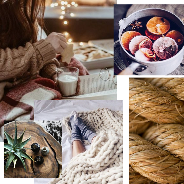 Parcel London blog. Hygge Christmas and winter gift box inspiration moodboard
